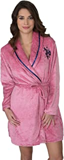 Womens Plush Super Soft and Warm Fleece Bath Robe