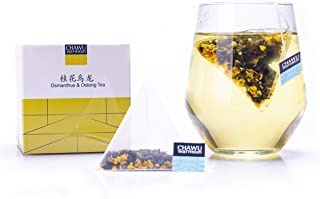 Cha Wu-Osmanthus & Oolong Tea Bags,16 Tea bags,8 Count/Box(Pack of 2),Natural Osmanthus with Light Roasting TieGuanYin Ool...
