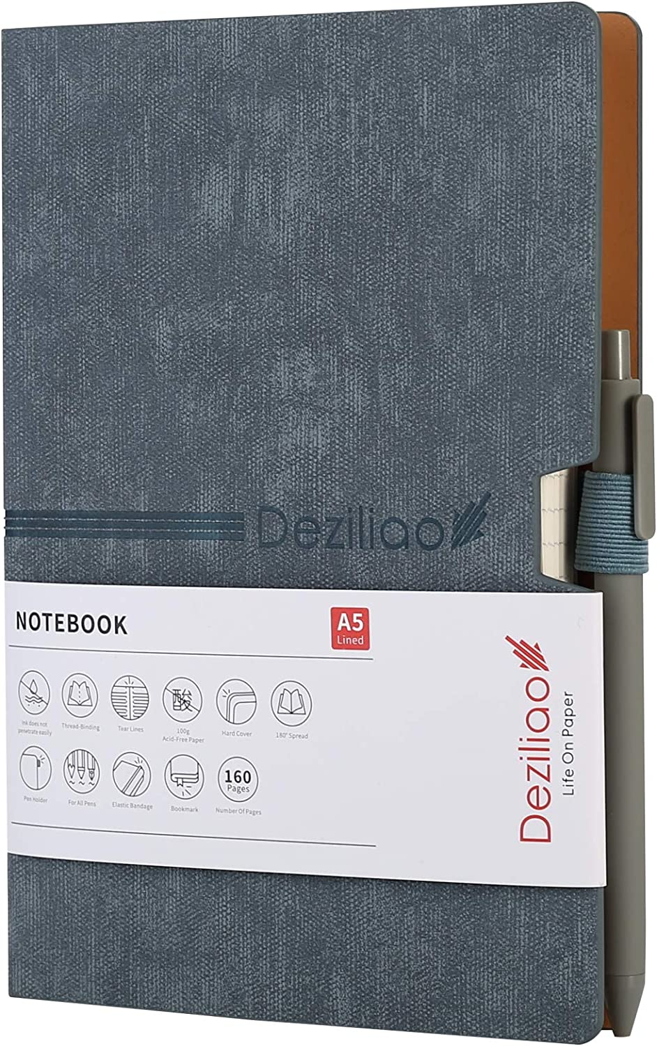 It is Minneapolis Mall very popular Deziliao Lined Journal Notebooks with Hardcover Pen Notebo Loop