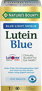 Nature's Bounty Lutein Blue Pills, Eye Health Supplements and Vitamins with Vitamin A and Zinc, Supports Vision Health, 60...