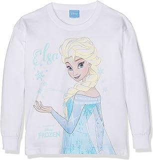 /Il regno di ghiaccio bambini Longsleeve maglietta a maniche lunghe Top a maniche lunghe Disney Frozen/ Mascherina per ragazza con Elsa e Anna motivi