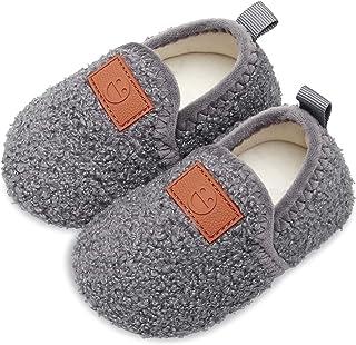 دمپایی کودکان و نوجوانان کودکان و نوجوانان جوراب جوراب دمپایی پشمی مصنوعی برای دختران پسر بچه با کف لاستیکی ضد لغزش