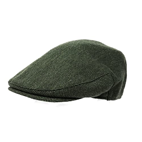 6261d5d0982 Mens Herringbone Tweed Flat Cap - Country Fishing Shooting Hunting Headwear