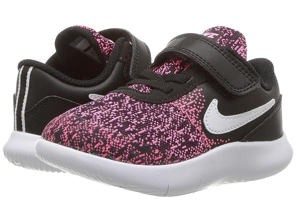 Nike Kids Flex Contact (Infant/Toddler) (Black/White/Racer Pink) Girls Shoes