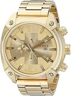 Men's Overflow Quartz Stainless Steel Chronograph Wrist Watch
