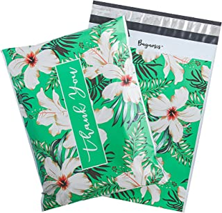 Bagnosis Poly Mailers 10x13 Inch. 100 Tropical-Green Poly Mailer Shipping Envelopes, Shipping Bags for Clothing, Mailing E...
