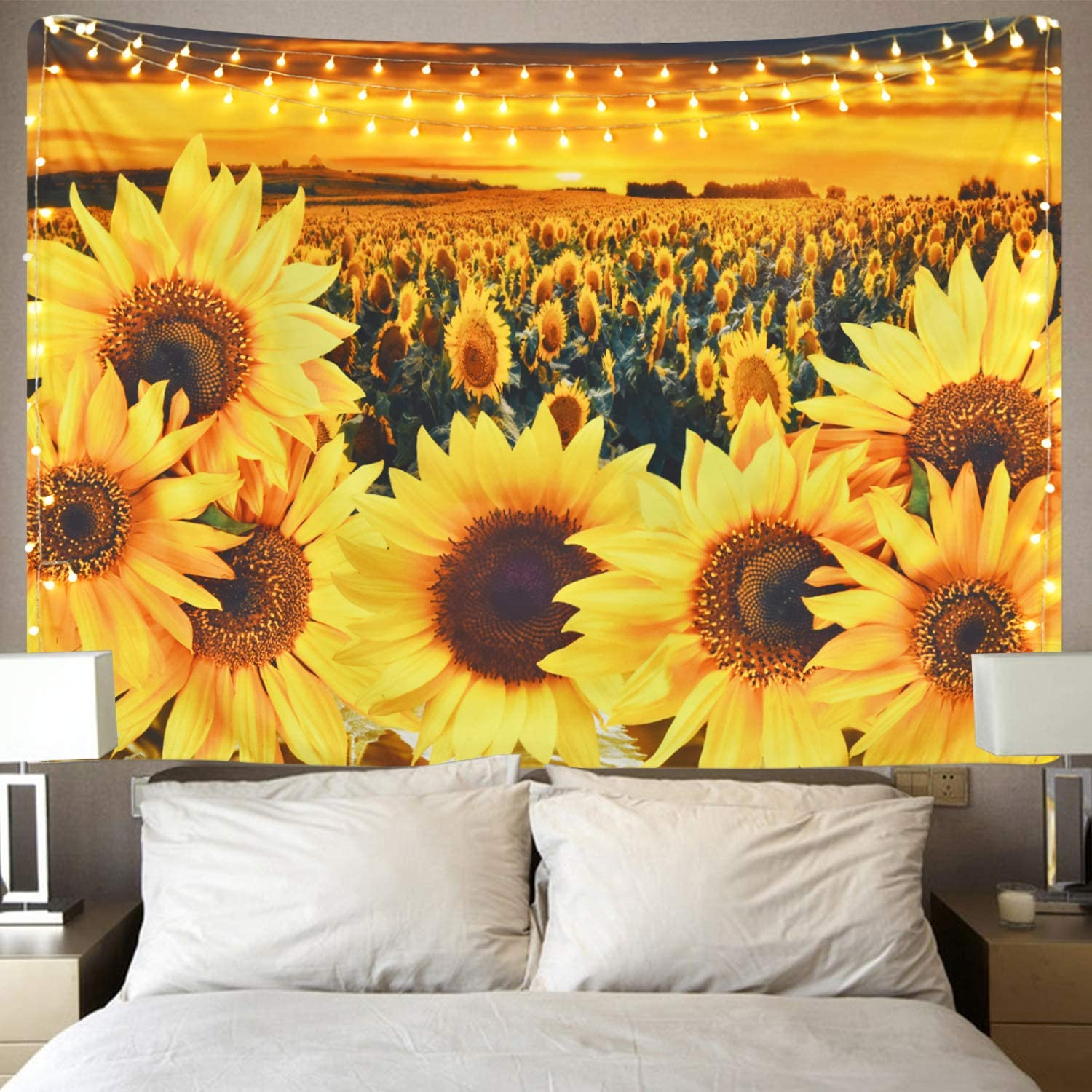 Sunflower Tapestry Cheap super special price Many popular brands Sunset Floral Field Plant