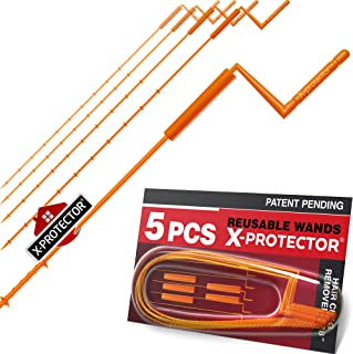 """X-PROTECTOR DRAIN CLOG REMOVER – PREMIUM DRAIN SNAKE – 28"""" Drain Cleaner – 5 pcs Hair Clog Removers – Drain Hair Catcher with Rotating Handle – Orange Sink Drain Snakes – TOTAL DRAIN CLEANING!"""