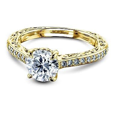 Kobelli 1 1/3 Carat TDW Round Diamond Vintage Engagement Ring - Multiple Gold Options