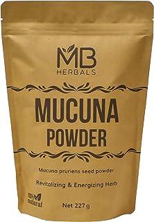 MB Herbals Mucuna Powder 227 Gram   Half Pound 8 oz   Kapikachhu Powder   Mucuna pruriens (White) Seeds Powder   Velvet Be...