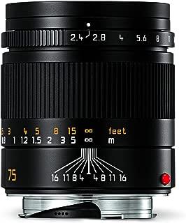 Leica 11682 Summarit-M 75mm/f2.4 Telephoto Lens, Black