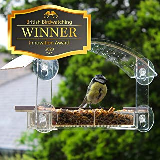 Window Bird Feeders with Strong Suction Cups - Home Bird Suction Cup Bird Feeder Window Clear Bird Feeders for Window Bird...