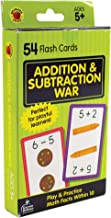 Carson Dellosa - Addition And Subtraction War Flash Card Game - Learn Facts within 10 for 1st, 2nd, and 3rd Grade Basic Math, Ages 5+