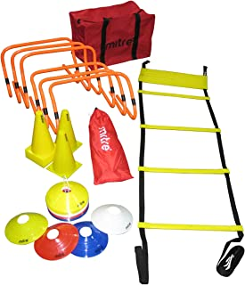Mitre A3092AAA-ONESZ Football Training Kit with Agility Ladders, Hurdles and Cones, Multicolour