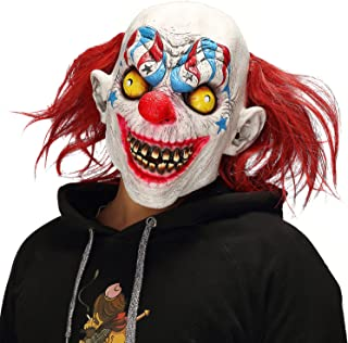 Halloween Horror Demon Joker Mask Scary Cosplay Evil Circus Clown Mask White
