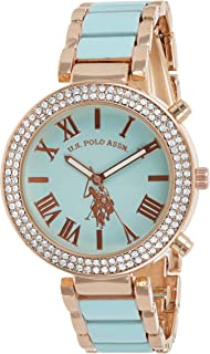 U.S. Polo Assn. Women's Quartz Watch, Analog Display and Gold Plated Strap USC40083