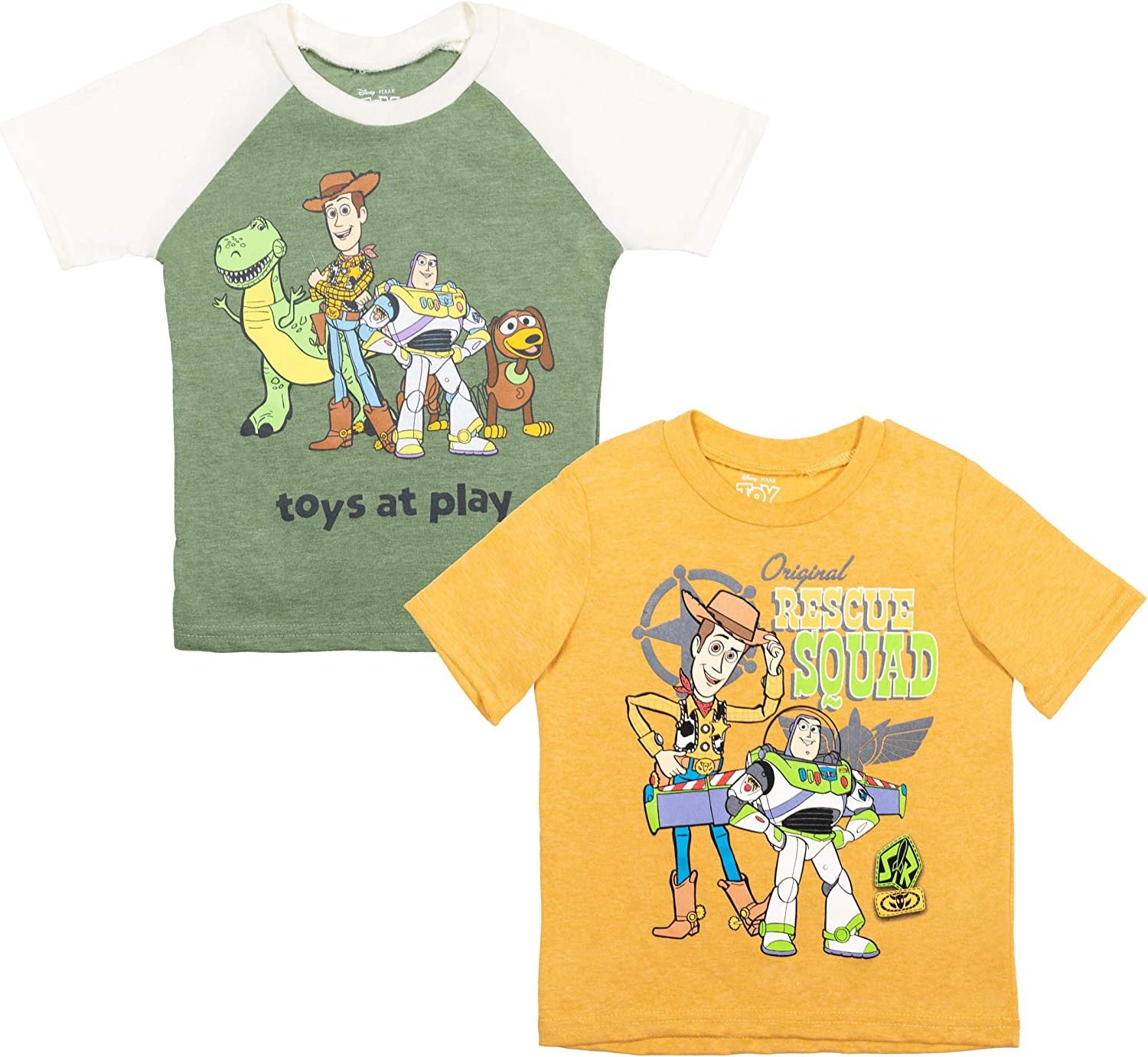 Disney Pixar Toy Story Buzz Lightyear 2 Pack Long Sleeve Graphic T-Shirt Gray/White