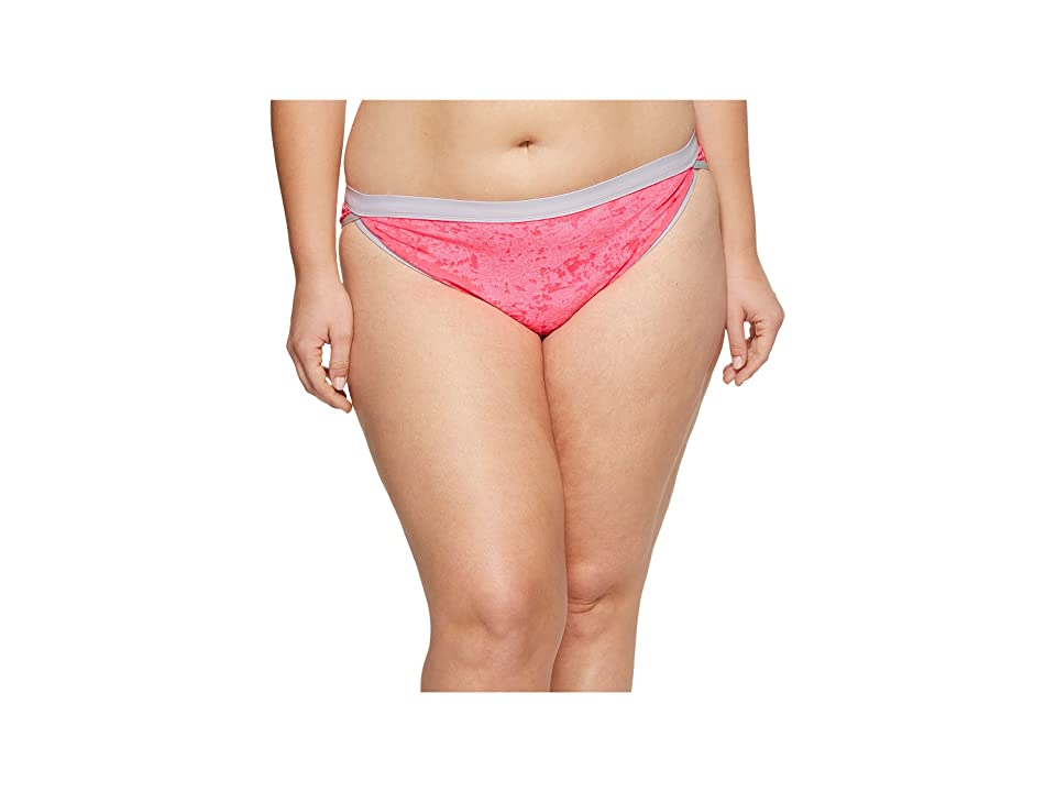 Sports Illustrated Plus Size Juice Is Loose High Leg Dolphin Bottom (Bubble Gum) Women