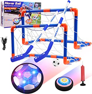 Diealles Shine Kids Hover Voetbalset, Oplaadbare Air Power Voetbal met LED Licht en Foam Bumper, Indoor en Outdoor Voetbal...