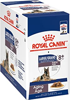 Royal Canin Size Health Nutrition Large Aging 8+ Chunks in Gravy Pouch Dog Food, 4.9 oz (Pack of 10)