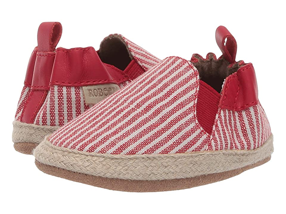Robeez Waverly Stripe Soft Sole (Infant/Toddler) (Red) Girl