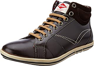 Lee Cooper Men's Lc1287ebrown Leather Sneakers
