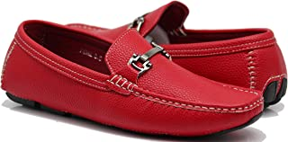 PYN Men Casual Light Weight Horse Bit Buckle Driving Moccasins Shoes
