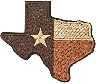 WZT Texas State Flag Patch Morale Patch-Military Morale Patches