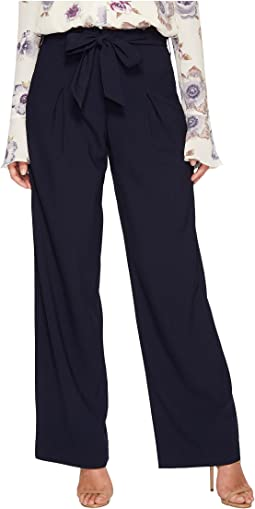 J.O.A. - Wide Leg Pants with Tie Waist