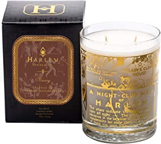 Harlem Candle Company Savoy Luxury Candle with 22K Gold Map Print, Glass Jar, Double Wick, 12 oz