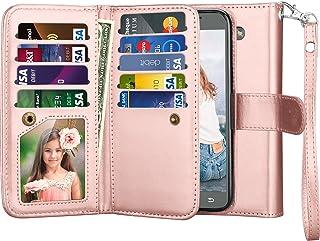 جراب NJJEX Galaxy J3 Emerge Wallet Case, for Amp Prim 2/J3 Luna Pro/Express Prim 2، مصنوع من جلد البولي يوريثان [9 فتحات ل...