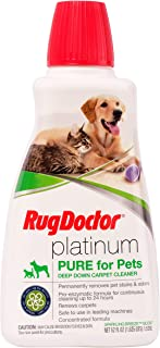 Rug Doctor Platinum Pure for Pets, Cleaning Solution Permanently Removes Pet Stains and Neutralizes Odors, Protects Carpet from Future Stains, 52 fl oz.