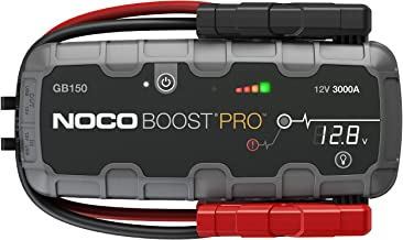 NOCO Boost Pro GB150 3000 Amp 12-Volt UltraSafe Portable Lithium Jump Starter Box, Car Battery Booster Pack, And Heavy Duty Jumper Cables For Up To 9-Liter Gasoline And 7-Liter Diesel Engines