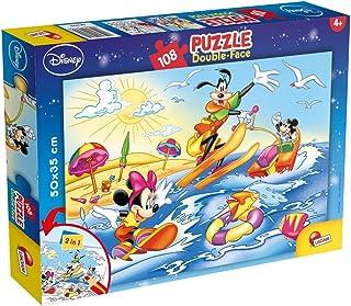 Lisciani Puzzle dwustronne plus Myszka Miki i Goofy 108 47956
