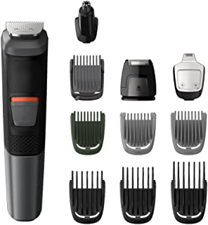 Philips Multigroom Series 5000 11-in-1 Face, Hair and Body Waterproof Trimmer/Clipper with DualCut Technology and 80 min r...
