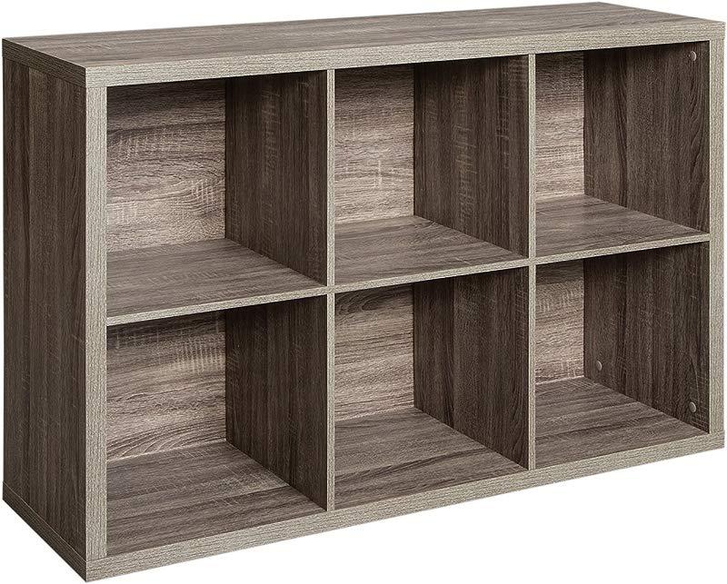 ClosetMaid 1326 Decorative 6 Cube Storage Organizer Weathered Gray
