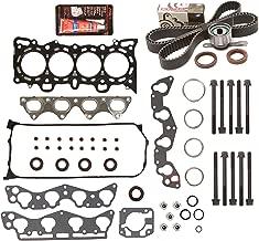 Evergreen HSHBTBK4029 Head Gasket Set Head Bolts Timing Belt Kit Fits 96-00 Honda 1.6 D16Y5 D16Y7 D16Y8