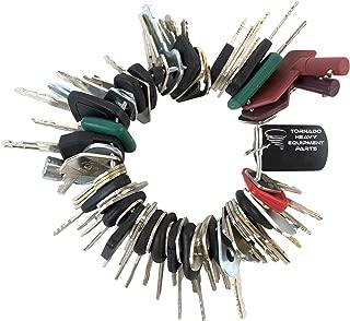 TORNADO HEAVY EQUIPMENT PARTS Construction Equipment Master Keys Set-Ignition Key Ring for Heavy Machines, 64 Key Set