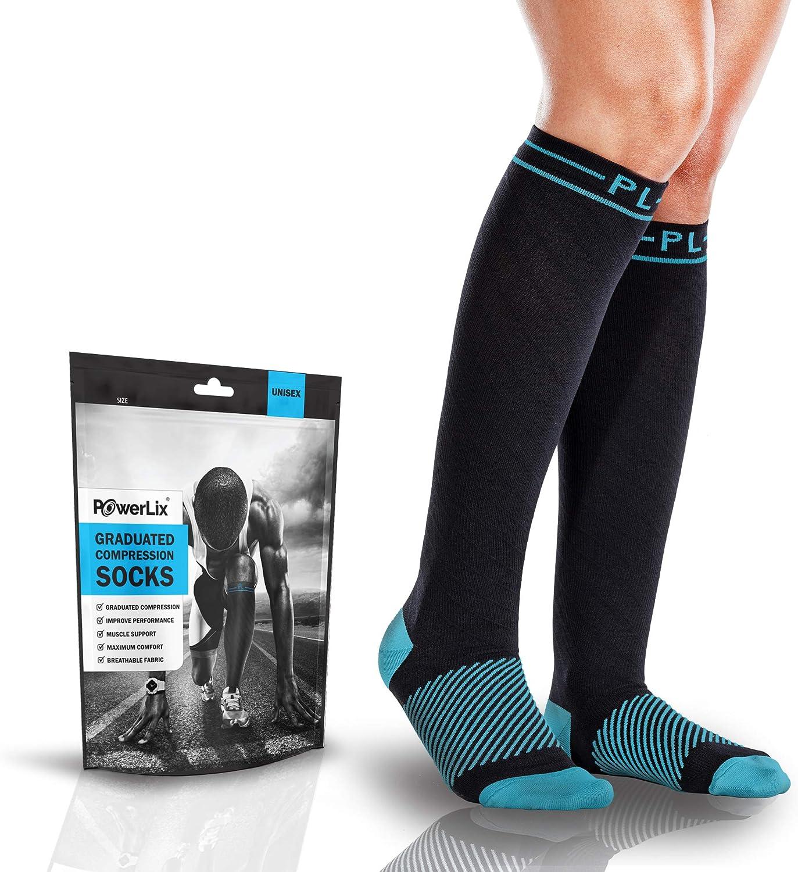 POWERLIX Compression Socks for Men & Women  2030 mmHg Medical Stockings Support Circulation, Recovery  Best Graduated Athletic Socks for Nursing, Pregnancy, Shin Splints, Varicose Veins, Running