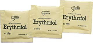 Health Garden Erythritol Sugar Free Sweetener - All Natural - Non GMO - Kosher- Keto Friendly (1000 Packets)