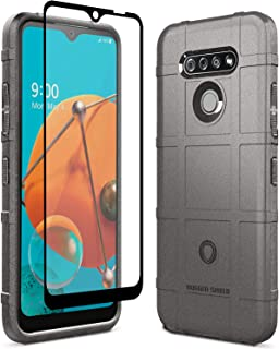 Sucnakp LG K51 Case LG Reflect Case LG Q51 Case with Screen Protector Heavy Duty Shock Absorption Phone Cases Impact Resistant Protective Cover for LG K51(New Gray)
