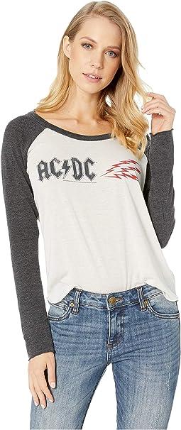 AC/DC Shirttail Raglan Baseball Tee