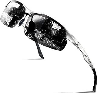 COSVER Mens Polarized Sunglasses UV Protection Golf Sunglasses for Men Unbreakable Metal Frame Ultra Light