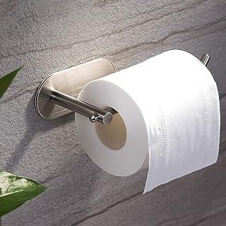 ZUNTO Porte-rouleau de Papier Toilette Sans Support de Papier Auto-adhésif de Forage Titulaire de Papier Hygiénique en Aci...