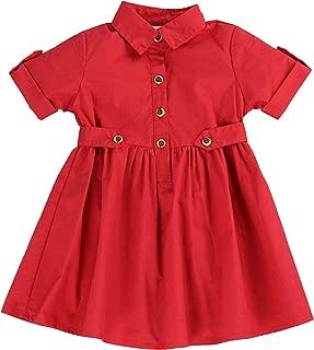 Toddlers and Girls (2-7/8) Light Cotton Sweetheart Shirt Dress