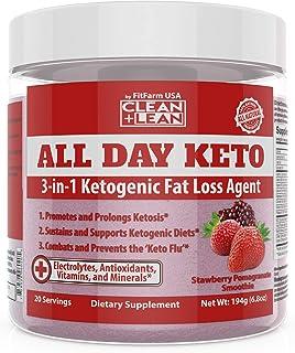 All Day Keto 3-in-1 Ketogenic Fat Loss Agent MCT Oil Extract, Organic Caffeine, prebiotic Inulin Fiber, Aquamin Aquatic Mi...