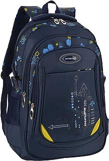 School Bag for Boys Bookbag Multi-pockets School Backpack Casual Backpack (Royal Blue)