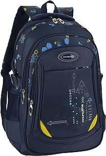 Bageek School Bag for Boys Bookbag Multi-pockets School Backpack Casual Backpack (Royal Blue)