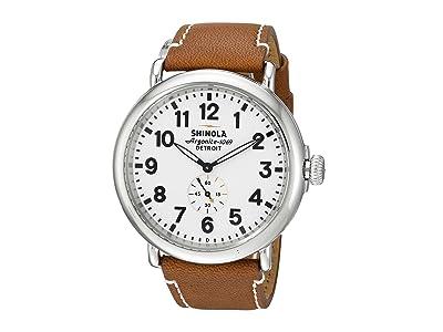 Shinola Detroit The Runwell 47mm 10000010 (White/Tan) Watches