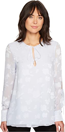 Ellen Tracy - Tie Slit Sleeve Blouse